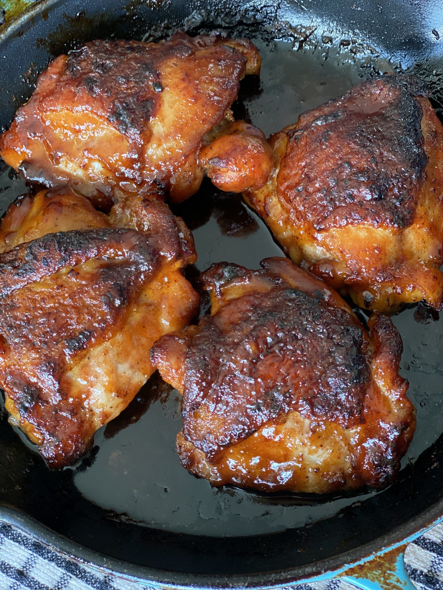 Oven Roasted Honey BBQ Chicken Thighs