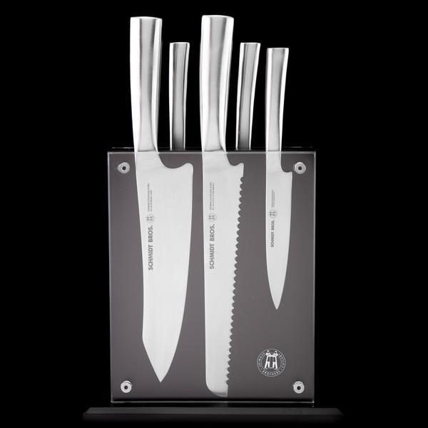 Stainless Steel, 6-Pc Knife Block Set