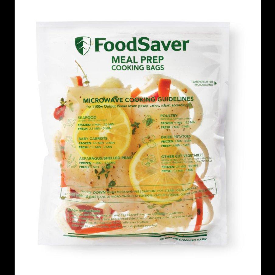 FoodSaver� Microwavable Meal Prep Bags, 1 Quart, 16 Ct.