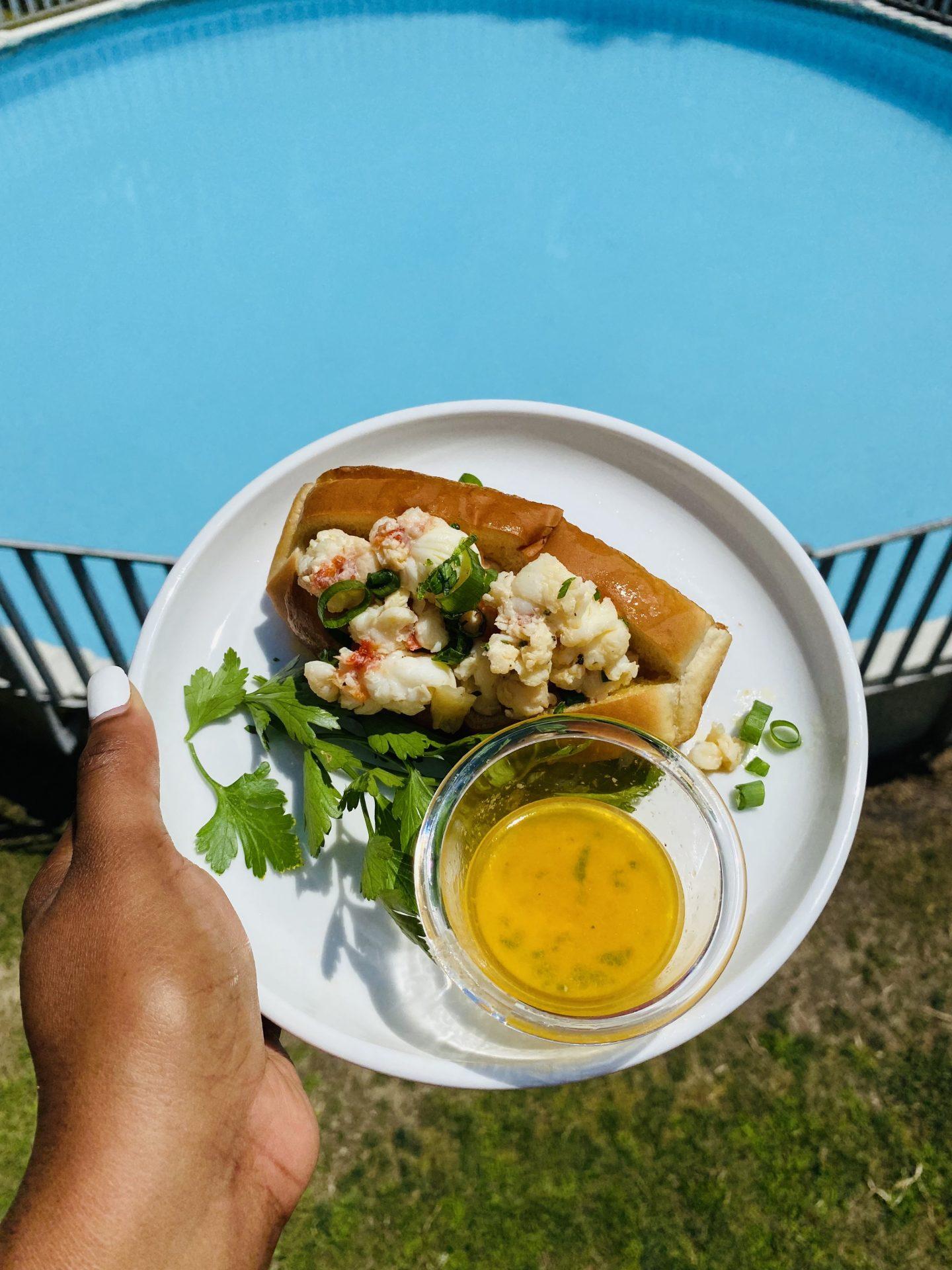 Lemon Tarragon Butter Lobster Roll