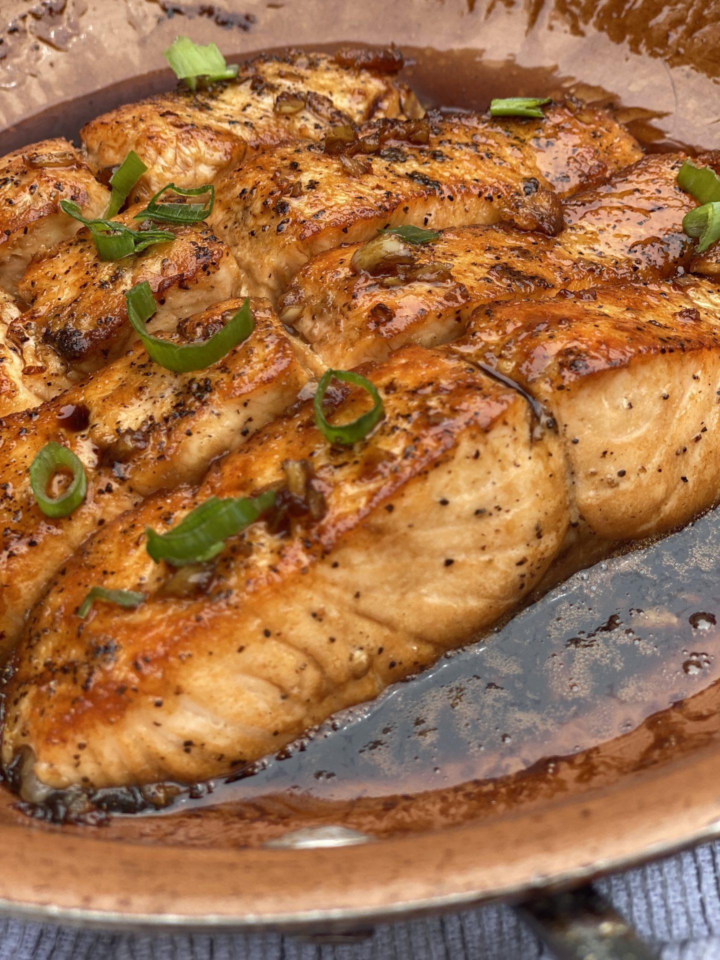 Pan-Seared Teriyaki Salmon