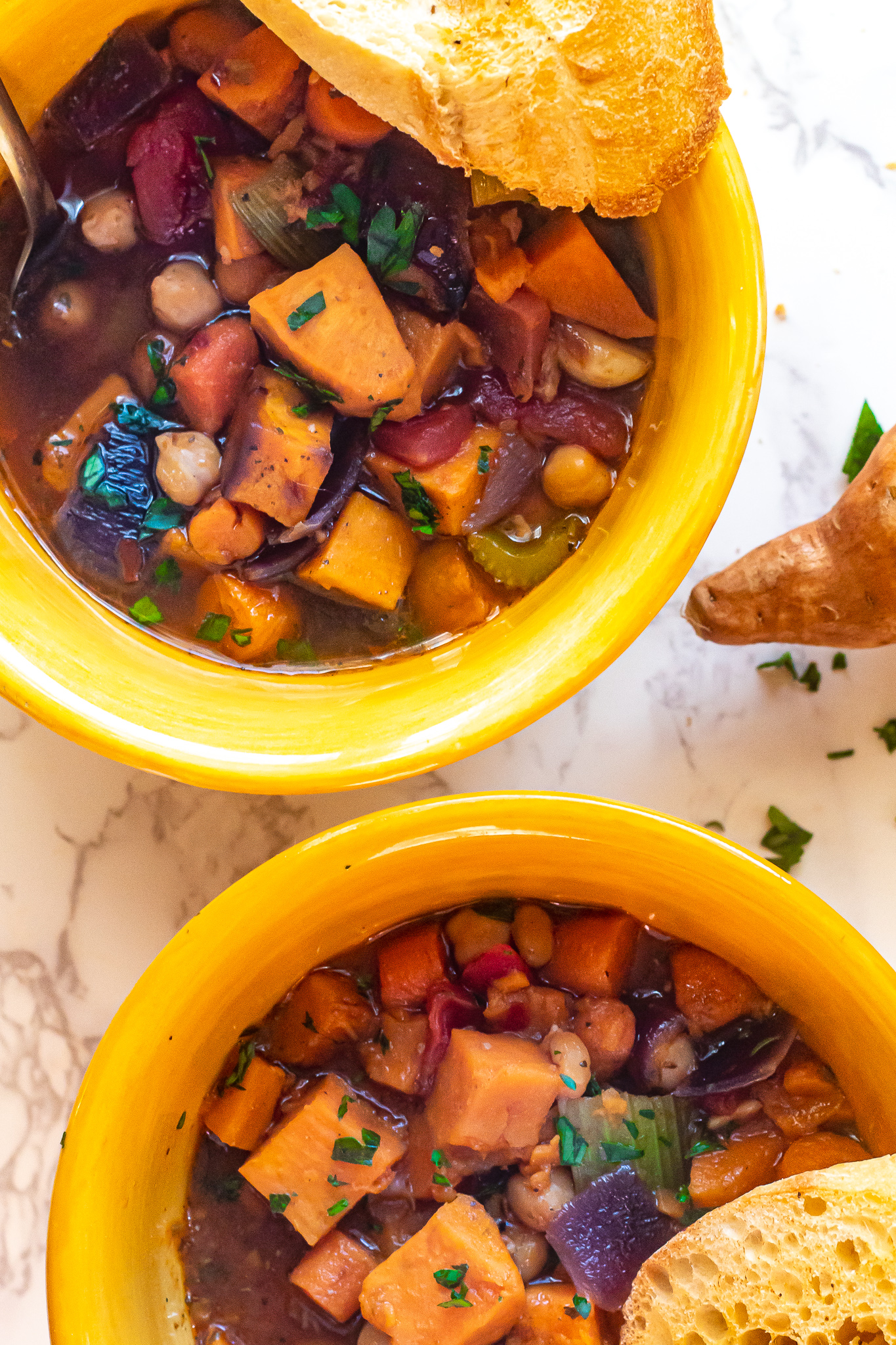 Roasted Sweet Potato and Chickpea Stew